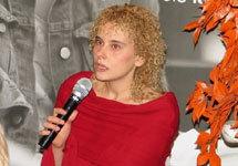 Елена Трегубова на презентации первой книги в Москве