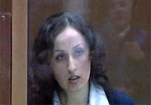 Зара Муртазалиева в зале суда. Кадр НТВ