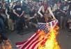 Сожжение американского флага. Фото http://hammeroftruth.com