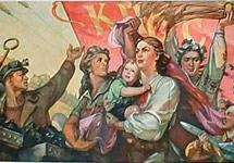 """""""Слава великому советскому народу!"""". Советский плакат"""