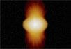 Так художник представляет себе звезду Альфа Жертвенника. Изображение Anthony Meilland (Observatoire de la Côte d'Azur, Франция) с сайта ESO