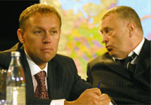 Андрей Луговой и Владимир Жириновский. Фото с сайта МК