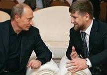 Владимир Путин и Рамзан Кадыров. Фото http://www.russiansanfran.com