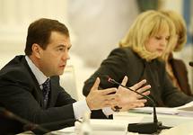 Дмитрий Медведев на встрече с правозащитниками. Фото пресс-службы Кремля.