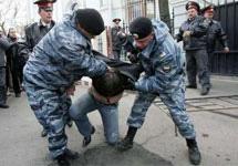 Задержание с участием ОМОНа. Фото с сайта YahooNews