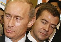 Владимир Путин и Дмитрий Медведев. Фото ''Росбалт''