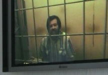 Сергей Мохнаткин на видеосвязи в зале суда на кассации 16 августа. Кадр Грани-ТВ