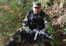 Алексей Потемкин в Чечне. Фото Times