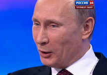 Владимир Путин. Кадр телеканала ''Россия 24''