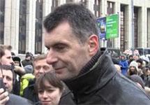 Михаил Прохоров на митинге 24.12. Кадр видеосъемки Радио Свобода