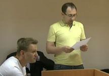 Алексей Навальный в суде 9 мая. Кадр Первого канала