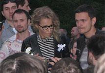 Ксения Собчак и Илья Яшин на Чистых прудах 20 мая. Фото Веры Васильевой