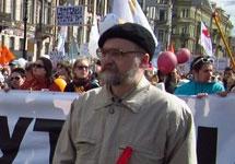 Александр Скобов на акции протеста. Фото Алексея Иванова