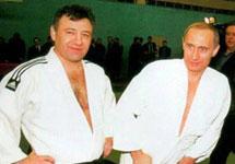 Аркадий Ротенберг и Владимир Путин в спортзале