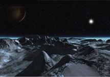 Плутон в представлении 3D-художника. Изображение NASA/David Seal с сайта www.space.com