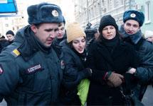 Задержание Елены Костюченко и Анны Анненковой у Госдумы. Фото Юрия Тимофеева