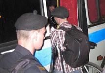 Задержание велосипедиста на Трубной. Фото: П.Курьянов