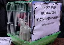 На акции протеста ученых у Госдумы. Фото Дмитрия Зыкова/Грани.Ру