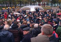 Народный сход ученых в Новопушкинском сквере. Фото Д.Зыкова/Грани.Ру