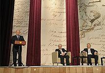 Владимир Путин на заседании российского литературного собрания. Фото пресс-службы президента