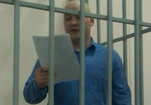 Даниил Константинов выступает с последним словом. Фото Дмитрия Зыкова/Грани.Ру