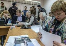 "Адвокаты на ""Болотном процессе"". На первом плане - Светлана Сидоркина. Фото Александра Барошина"