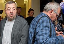За и против войны: Павел Лунгин и Андрей Макаревич. Фото: Ирина Бужор/Коммерсантъ