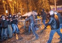 Столкновение в Донецке. Фото: novosti.dn.ua