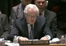 Виталий Чуркин на заседании СБ ООН. Кадр webtv.un.org