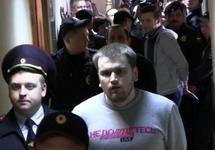"Начало ""Процесса четырёх"" в Замоскворецком суде. Кадр Грани-ТВ"