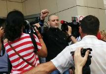 Сергей Удальцов перед оглашением приговора. Фото Ю.Тимофеева/Грани.Ру