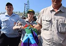 Задержание Кирилла Калугина. Фото Фонтанка.Ру