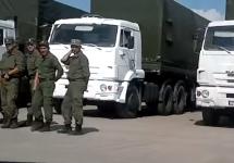 """Российский """"гуманитарный конвой"""". Кадр видеозаписи"""
