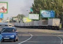 """Российские """"КамАЗы"""" на улицах Луганска. Фото: Юрий Ижакевич/Facebook"""