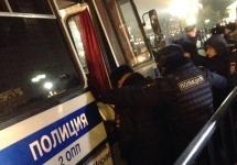 Задержание на Манежной. Фото: Филипп Киреев/@mynameisphilipp