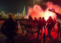 Акция у Кремля в годовщину Майдана. Фото: facebook.com/pulin.m.m