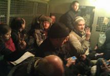 Задержанные на лекции о Майдане. Фото: А. Щербаков