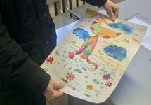Детский рисунок, который фсиновцы не передали Надежде Савченко. Фото: @alexrbchn
