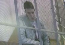 Надежда Савченко участвует в суде по видеосвязи. Фото: Ю.Тимофеев/Грани.Ру