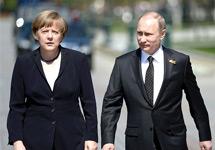 Владимир Путин и Ангела Меркель. Фото пресс-службы Кремля