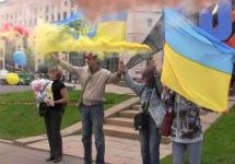 Акция на Лубянке в поддержку Савченко. Кадр Грани-ТВ