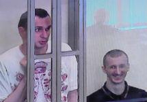 Олег Сенцов и Александр Кольченко в суде. Фото: Грани.Ру