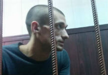 Петр Павленский в Таганском суде. Фото Юрия Тимофеева/Грани.Ру