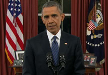 Барак Обама. Кадр трансляции выступления