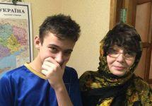 Ирина Калмыкова с сыном в Киеве. Фото с личной страницы