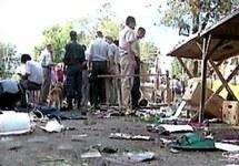 После взрыва на Кировском рынке Астрахани, 19.08.2001. Кадр НТВ