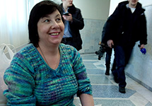 Екатерина Вологженинова перед приговором. Фото Елены Кораблевой