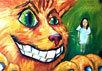 Чеширский Кот и Алиса с сайта www.billburg.com/artists/elee/10.cfm