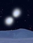 Бинарная звездная система WR 20a. Фантазия художника с сайта cfa-www.harvard.edu