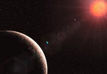 Так художник представляет себе планетную систему Gliese 581. Изображение ESO/L.Calcada с сайта www.eso.org